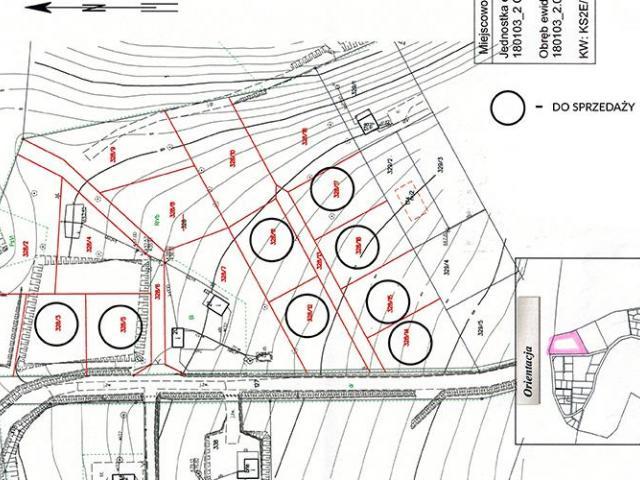 Do sprzedania działki o powierzchni od 600 m2 do 1800 m2,249.253 - 2/2