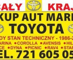 Kupię Toyota Picnic Corolla Avensis Carina Hiace Dyna SKUP
