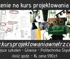 Kurs Projektowania Wnętrz 590ZŁ Śląsk, Śląskie, na Śląsku