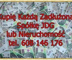 Kupię Każdą Zadłużoną Spółkę/JDG lub Nieruchomość