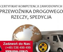 Kurs CPC Kalisz 6,7,8 luty 2020 r. Certyfikat Kompetencji Zawodowych Przewoźnika Drogowego