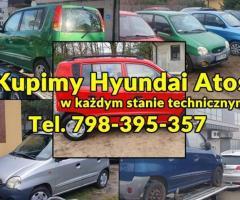 Skupujemy Hyundai Atos w każdym stanie technicznym oraz inne Hyundaie