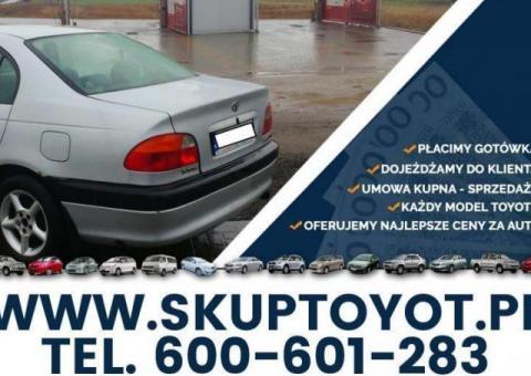 Kupię Toyotę Avensis 1.6 1.8 TD D4D 2.0 T22 SKUP TOYOT