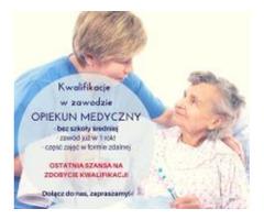 Opiekun medyczny - dla osób bez wykształcenia średniego