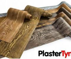 Imitacja drewna na elewacje, Elastyczna, Ultralekka, Struktura 3D