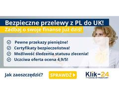 Najkorzystniejsze przelewy z Polski do Anglii tylko w Klik-24!